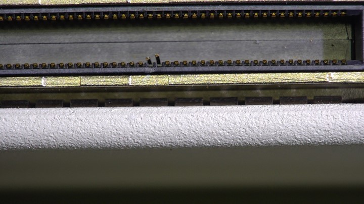 Damaged pins in CX pinbank on the Philips X5-1