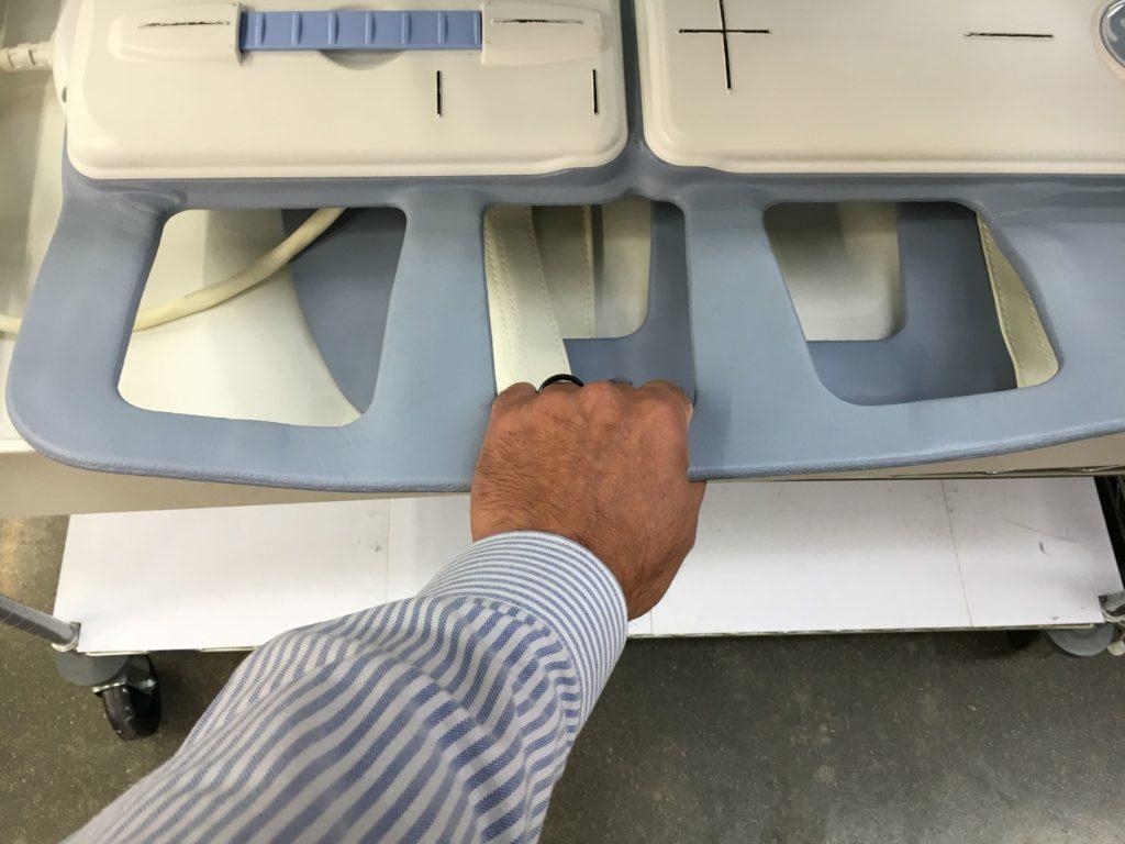 Incorrect MRI coil transporation practices