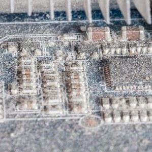Dust build up on circuit board