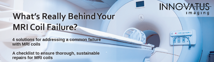 Picture of an MRI scanner and MRI Coil